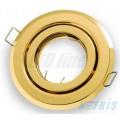 Podhledové bodové svítidlo BETA zlatá + patice, LUX01223